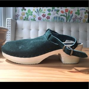 Forest Green Clogs